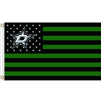 Dallas Stars Polyester flag 3x5 ft with stripe and star