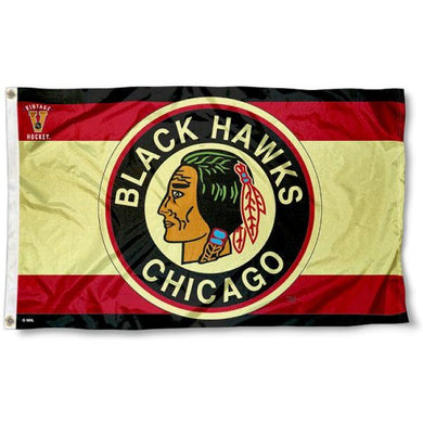 Chicago Blackhawks Vintage Flag 3x5 ft