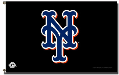 New York Mets Black Banner flag 3ftx5ft