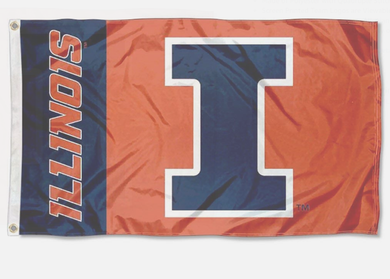 Illinois Fighting Illini College Flags Banners 3*5ft