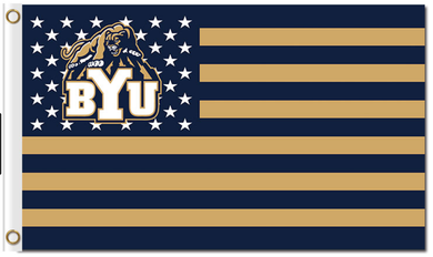 Copy of Brigham Young Cougars Star and Stripe Us Banner Flag 3*5ft