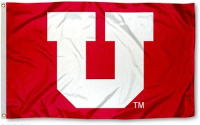 Utah Utes Big U sports team flag