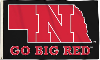 Nebraska Cornhuskers State Outline Flag 3x5ft