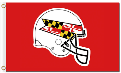 Maryland Terrapins White Helmet Banner Flag 3ft*5ft