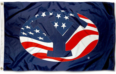 Brigham Young Cougars US Flag 3*5ft