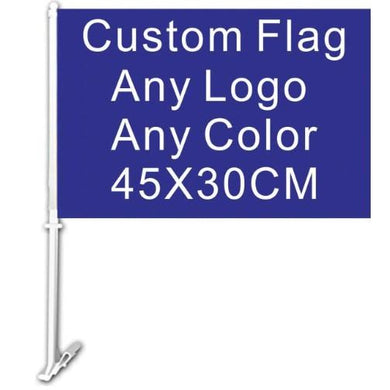Custom Car Flag 30x45cm - Any logo any color