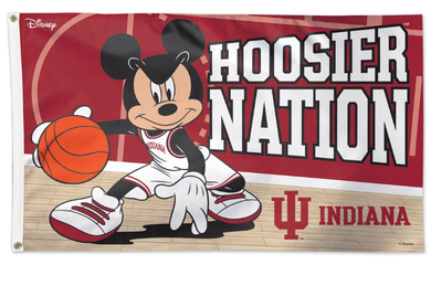 Indiana Hoosiers Disney Mickey Banner Flag 3*5ft