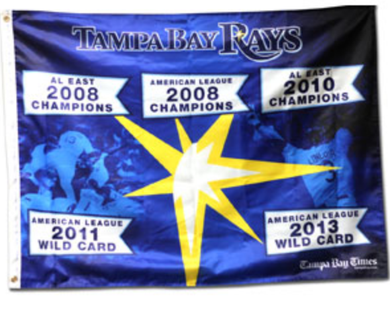 Tampa Bay Rays Times Ticket Banner Flag 3x5ft