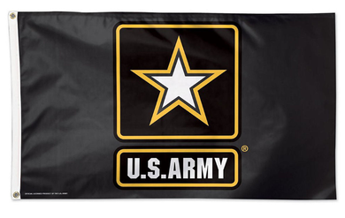 Army Black Knights US Army Star Logo Banner Flag 3*5ft