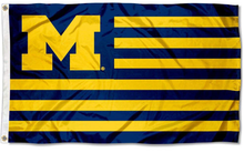 Load image into Gallery viewer, Michigan Wolverines Stars and Stripes Nation Flag 90*150 CM