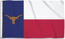 Load image into Gallery viewer, Texas Longhorns State Of Texas Flag 3x5FT