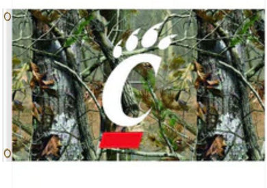 Cincinnati Bearcats Camo Banner Flag 3ft*5ft
