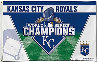 Kansas City Royals 2015 World Series Champions Banner flags 3ftx5ft