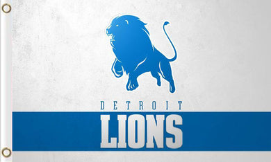 Detroit Lions Team Logo Flags 3ftx5ft