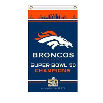 Denver Broncos 50th super bowl champions flag 90x150cm