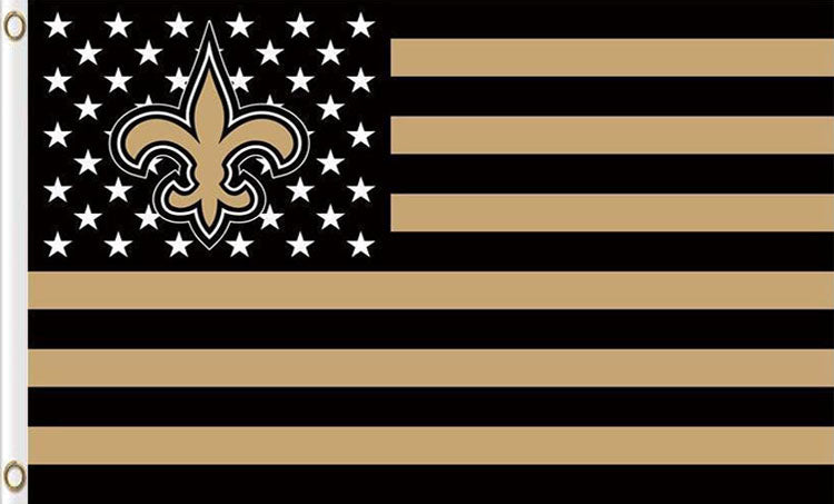 New Orleans Saints Team Logo Sports Flags 3ftx5ft