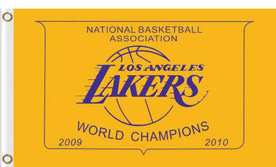 Los Angeles Lakers world champions Flag 3ftx5ft