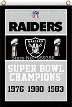 Load image into Gallery viewer, Oakland Raiders Super Bowl Champions Flag 3ft x 5ft
