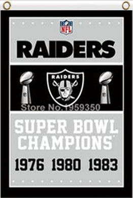Oakland Raiders Super Bowl Champions Flag 3ft x 5ft