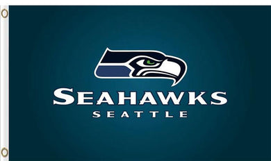 Seattle Seahawks Club Logo Sports Flags 3ftx5ft