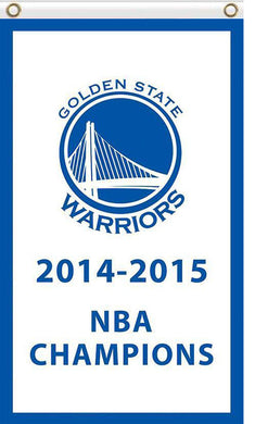 Golden State Warriors 2014-2015 champions flag 3ftx5ft