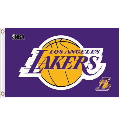 Los Angeles Lakers basketball teams flag 3ftx5ft