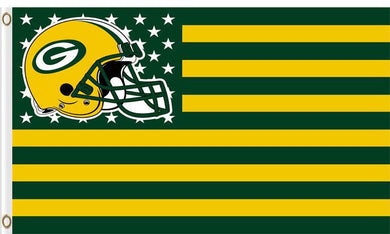 Green Bay Packers Team Logo Flags 3ftx5ft