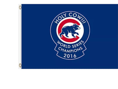 Chicago Cubs Holy Cow WORLD SERIES CHAMPIONS flags 90x150cm