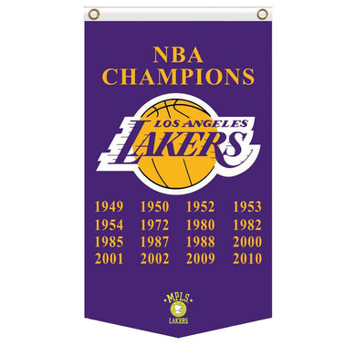 Los Angeles Lakers Champions flags 3ftx5ft