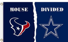 Load image into Gallery viewer, Houston Texans vs Dallas Cowboys Divided Flag