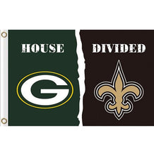 Load image into Gallery viewer, Green Bay Packers vs New Orleans Saints divided flag 3ftx5ft