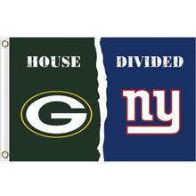 Load image into Gallery viewer, Green Bay Packers VS New York Giants House Divided flags 3ftx5ft