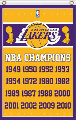 Los Angeles Lakers champions flag 90x150cm