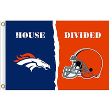 Load image into Gallery viewer, Denver Broncos vs Cleveland Browns House divided flag 3ftx5ft