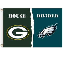 Load image into Gallery viewer, Philadelphia Eagles vs Green Bay Packers Divided Flag