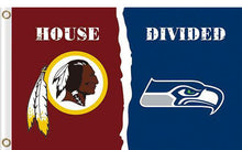 Load image into Gallery viewer, Washington Redskins vs Seattle Seahawks Divided Flag