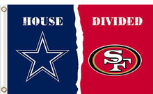 Load image into Gallery viewer, Dallas Cowboys vs San Francisco 49ers 2 Divided Flag