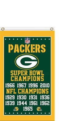 Green Bay Packers Super Bowl Champions Flag 3X5F