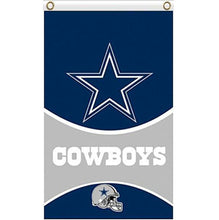 Load image into Gallery viewer, Dallas Cowboys flags 90x150cm with 2 Metal Grommets