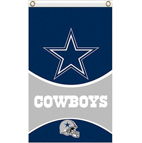 Dallas Cowboys flags 90x150cm with 2 Metal Grommets
