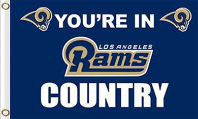 Los Angeles Rams Team Logo Sports Flags 3ftx5ft