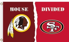 Load image into Gallery viewer, Washington Redskins vs San Francisco 49ers 2 Divided Flag