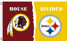 Load image into Gallery viewer, Washington Redskins vs Pittsburgh Steelers Divided Flag