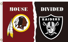 Load image into Gallery viewer, Washington Redskins vs Oakland Raiders Divided Flag