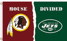Load image into Gallery viewer, Washington Redskins vs New York Jets Divided Flag