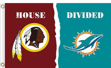 Load image into Gallery viewer, Washington Redskins vs Miami Dolphins Divided Flag