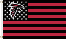 Load image into Gallery viewer, Atlanta Falcons Flag with Star and Stripes 3FTx5FT Red