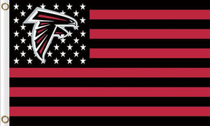 Atlanta Falcons Flag with Star and Stripes 3FTx5FT Red
