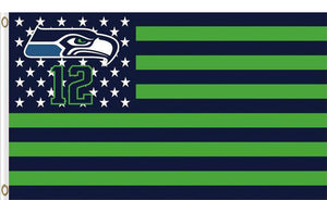 Seattle Seahawks Star and Stripes Flags 3FTx5FT