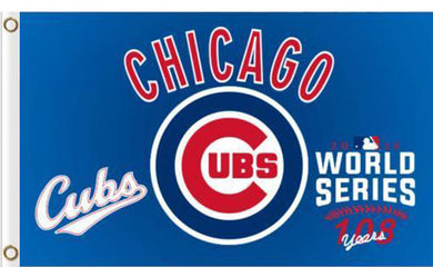 Chicago Cubs world series flag 3ftx5ft